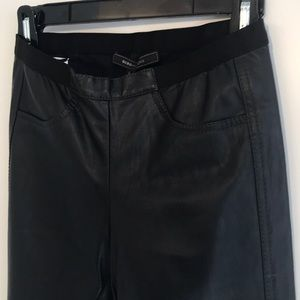 BCBG Black , to small 4 me, Faux-leather Pants